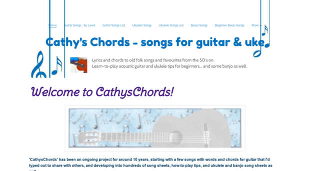Cathyschords Cathys Chords Songs For Gui Cathy S Chords