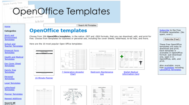 Family Tree Templates Openoffice Templates Oukasfo