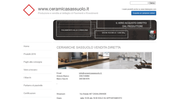 ceramicasassuolo.it - Vendita Diretta Ceramiche - Ce... - Ceramica ...