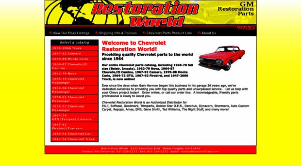 chevroletrestorationworld com - Chevrolet Restoration World