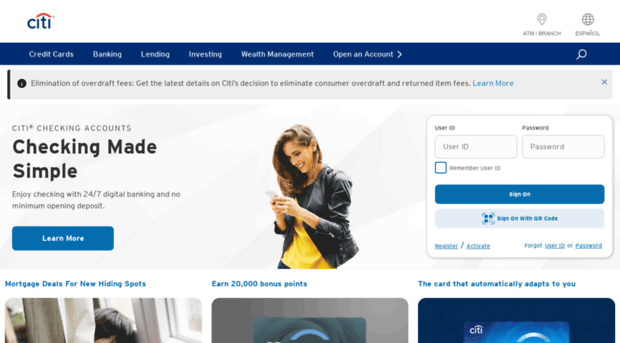 Citicards Online Login >> Citibank Com Online Banking Mortgages Personal Loans