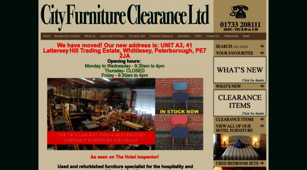 cityfurnitureclearance.uk - New  Used Hotel Furniture Re
