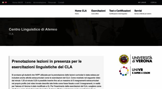 Univr Calendario.Cla Univr It Centro Linguistico Di Ateneo Cla Univr