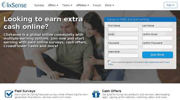clixcents com - Make Money Taking Surveys, Ear    - Clix Cents