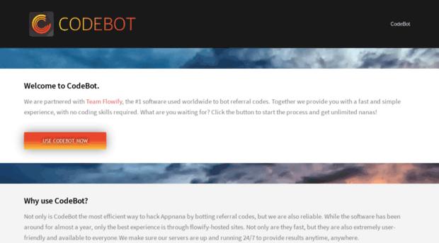 codebot ca CodeBot – Appnana Hack Tool – Bot Your Referral Code!