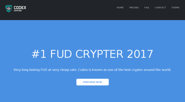 codexcrypter com - Codex Crypter - #1 FUD Crypter    - Codex