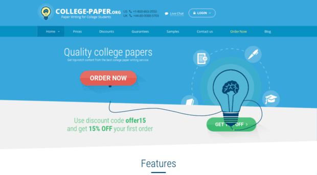 College paper org