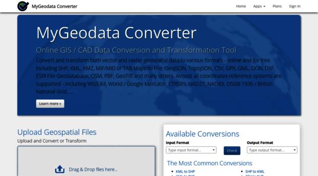 converter mygeodata eu - Online GIS/CAD Data Converter