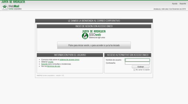 Correojuntadeandaluciaes Webmail Correo Corporativo Correo