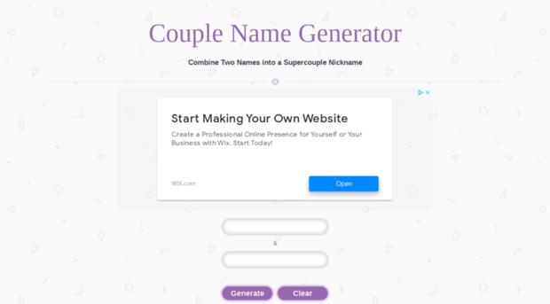 couplenamegenerator com couple name generator couple name generator