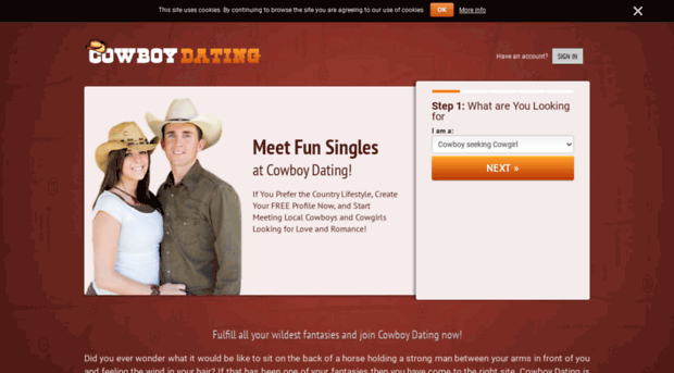 Sign up for online dating