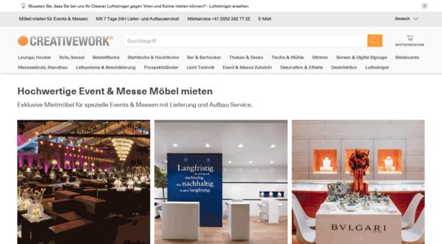 creativework.ch - Event und Messe Möbel mieten -... - Creativework