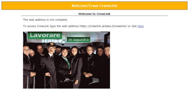 Crewlink alitalia