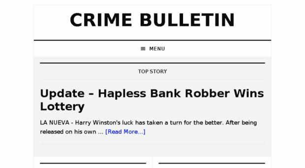 Crime bulletin College paper Academic Writing Service pthomeworkgjji ...