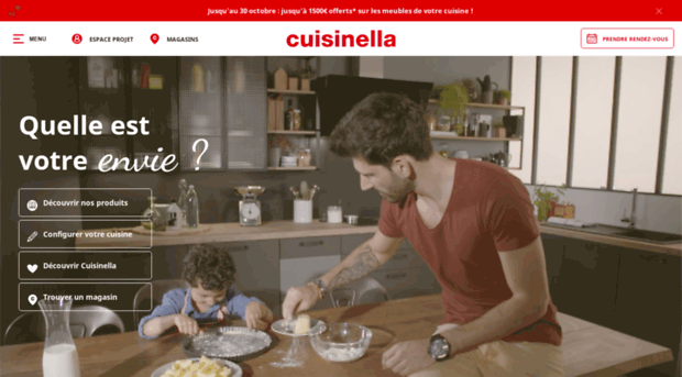 Cuisine quip e rangement et for Cuisines equipees cuisinella