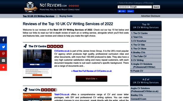 Top 10 cv writing services uk