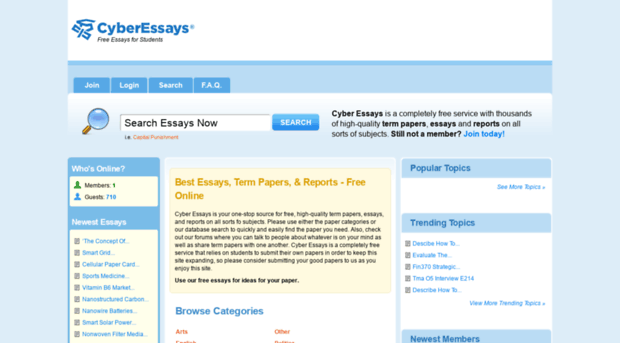 cyber essays online