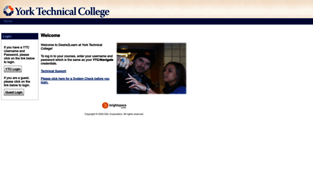york tech d2l. york technical college online courses. http://d2l.yorktech.edu tech d2l d
