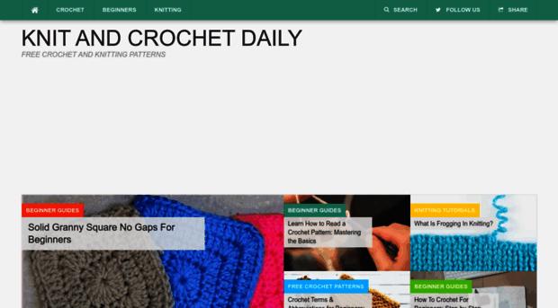Dailycrochet Knit And Crochet Daily Croch Daily Crochet