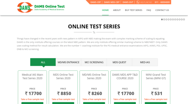 dams test series online