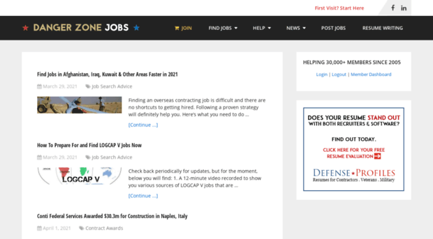 dangerzonejobs com Danger Zone Jobs – Find overseas