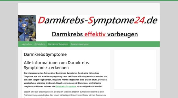 darmkrebs symptome endstadium