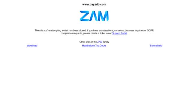 dayzdb.com ZAM Site Shutdown