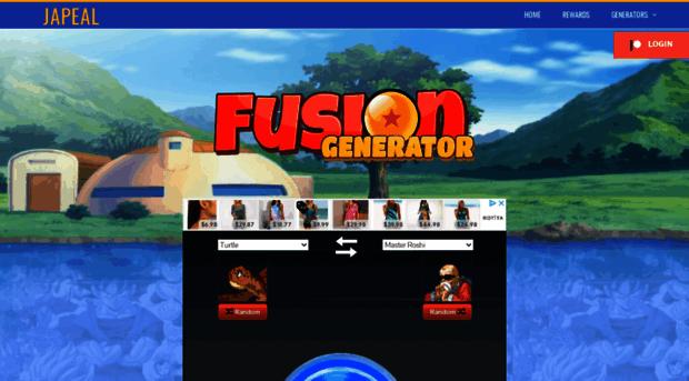 dbfg japeal com - Dragonball Fusion Generator - Dbfg Japeal