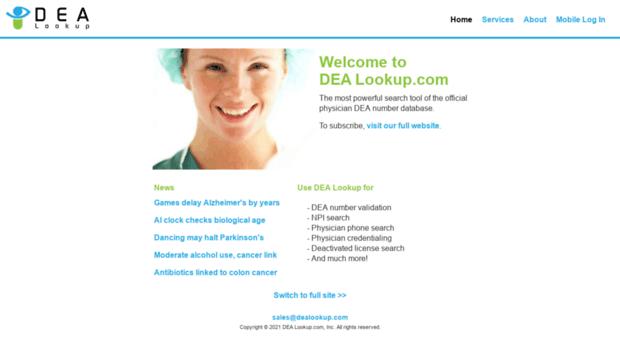 dealookup com - DEA Number Search Tools and Da    - DEA Lookup