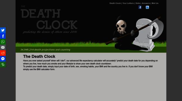 death-clock org - The Death Clock: Calculate you    - Death