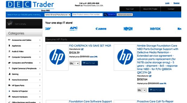 Hp Parts Store >> Dectrader Com Original Genuine Hp Parts Stor Dectrader