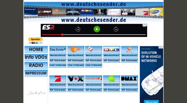 deutschesender de - Deutsche Programme online ARD,    - Deutsche Sender