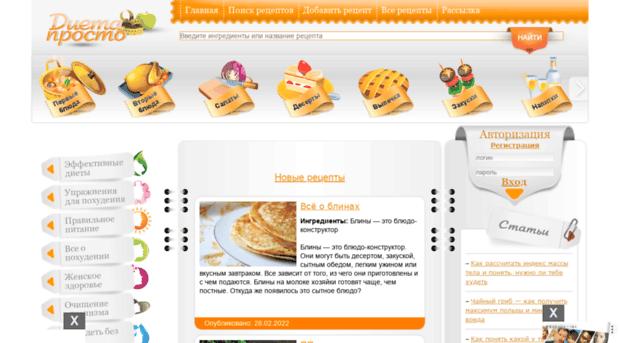 Вкусные и простые рецепты с указанием калорий