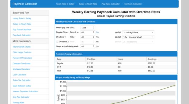 dollarsperhour com paycheck calculator weekly e dollarsperhour