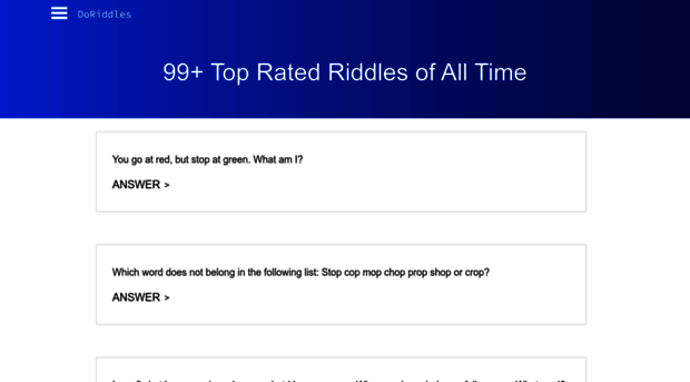 doriddles com - Riddles & Answers | Top 1000 |    - Do Riddles