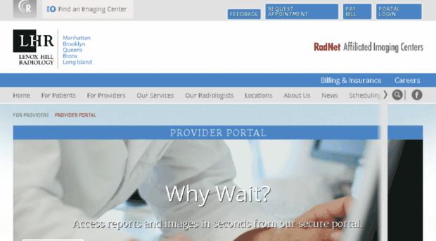 doshi mphrx com - Provider Portal   Lenox Hill R    - Doshi