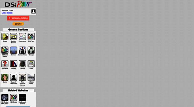 dsipaint com - DSiPaint: Games and Apps for t    - DSi Paint