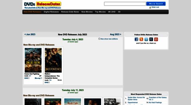 dvdsreleasedates com DVDs Release Dates - Latest Info on New