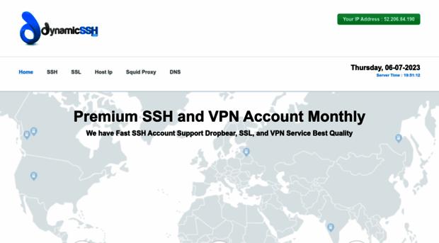 dynamicssh com DynamicSSH com   Premium Fast SSH Account and