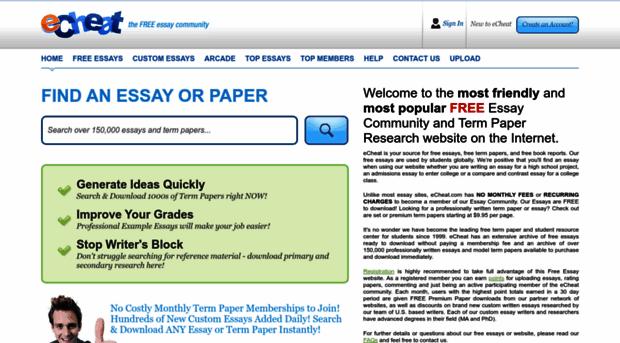 free essays