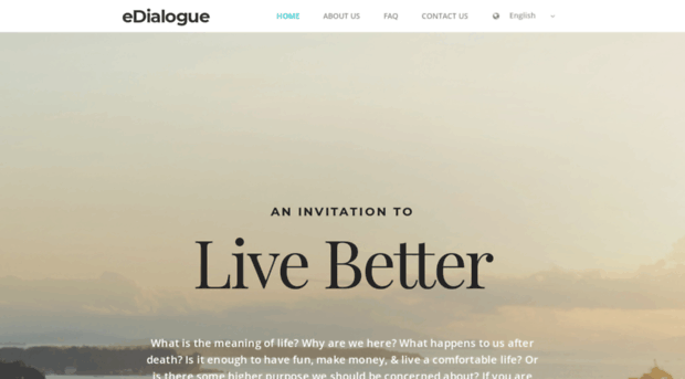 Edialogue find your purpose in life li edialogue what is the meaning of life why are we here what happens after death is it enough to have fun make money live a comfortable stopboris Images
