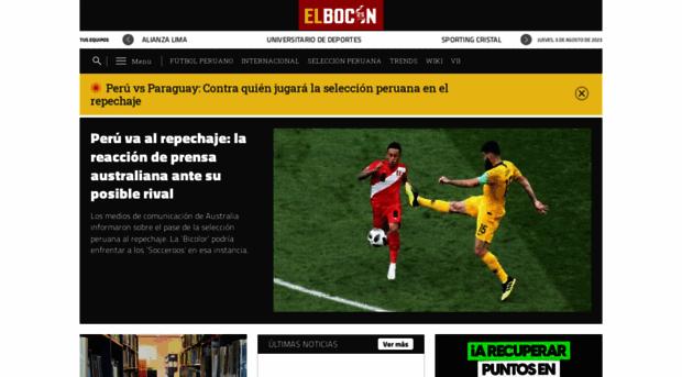 Elboconpe El Bocón Diario Especializado En El Fútbol Peruano E