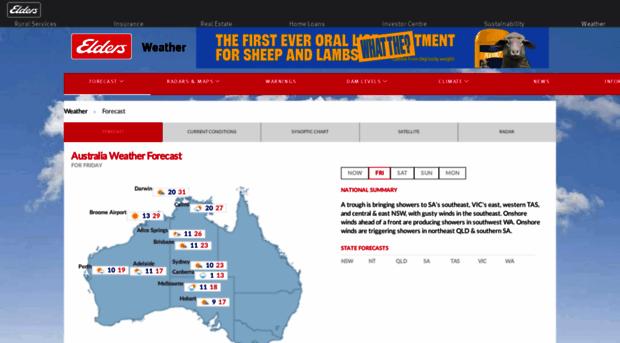 eldersweather com au - Australia weather forecast and