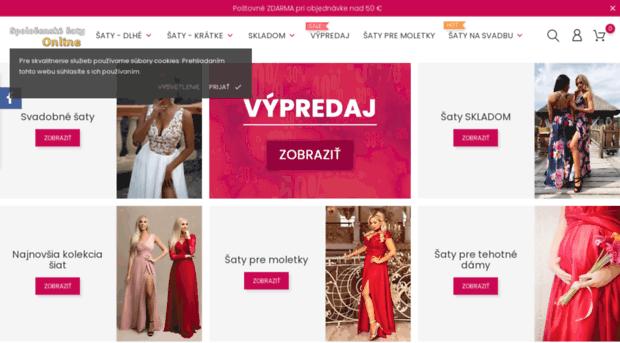 ad6342352de9 eshop.spolocenske-saty-online.sk - Spoločenské šaty - eShop - Obc... - EShop  Spolocenskesaty Online