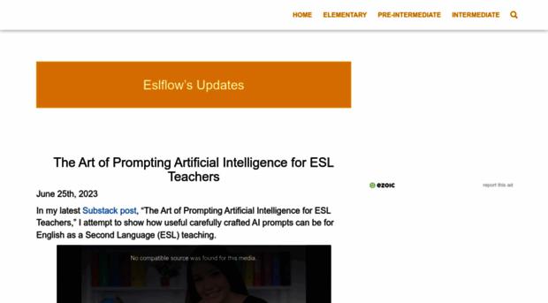 eslflow com - Eslflow's English languag    - Eslflow