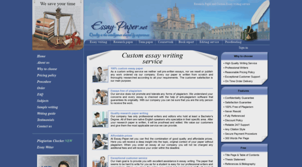 Custom essay papers net
