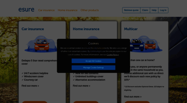 Multi Car Insurance Quotes >> Esure Com Esure Car Multi Car Home Esure