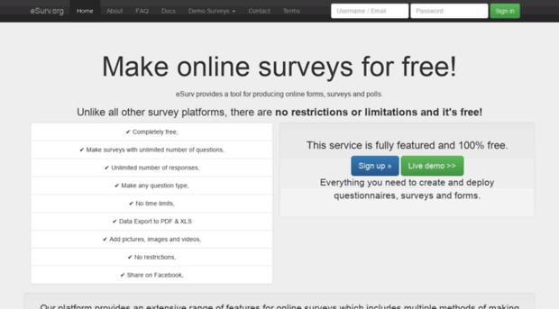 esurv org free survey maker esurv org esurv