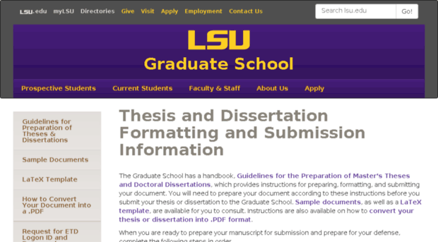 Lsu thesis and dissertation
