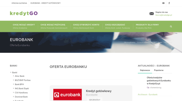 eurobank.kredytgo.pl - Eurobank - Eurobank - oferta k... - E